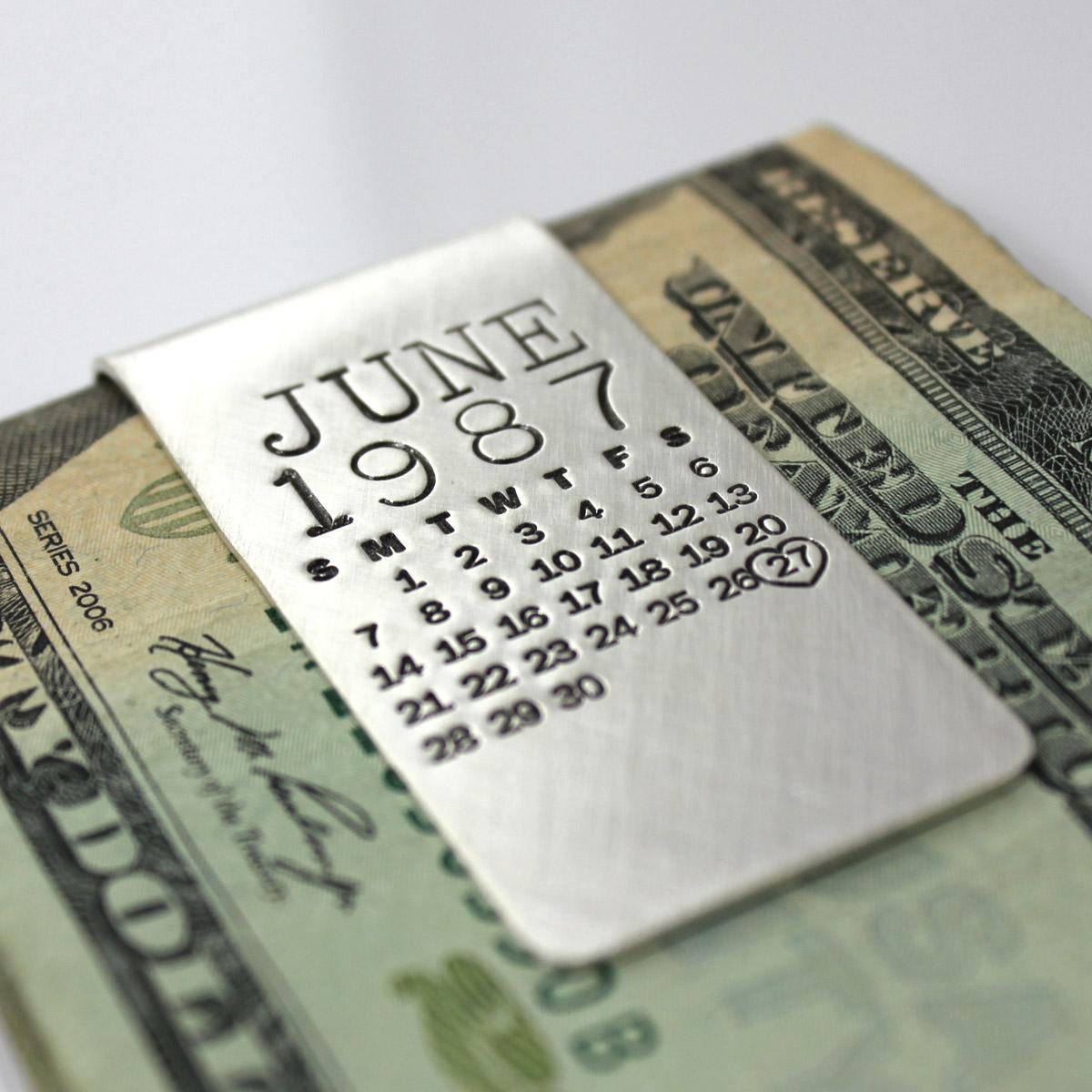 Mark Your Calendar Money Clip