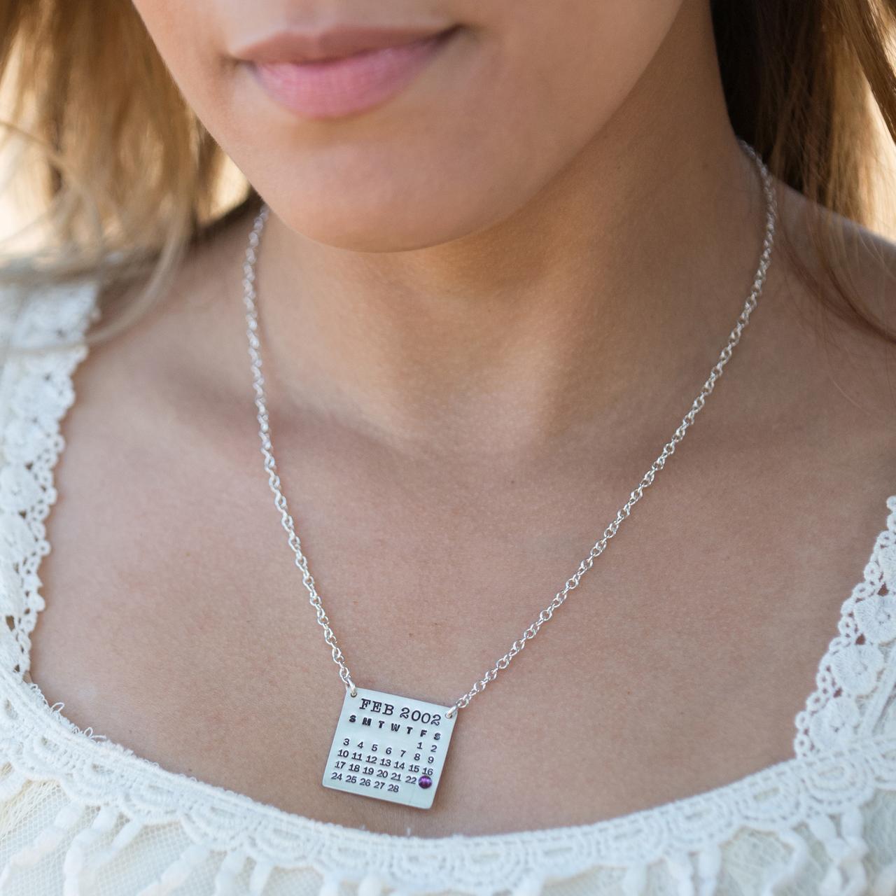Mark Your Calendar Necklace Top Hang