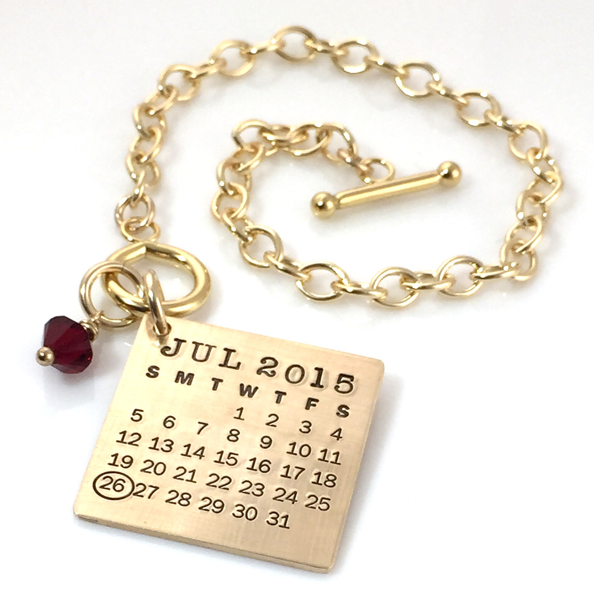 Mark Your Calendar Toggle Bracelet – Gold Filled