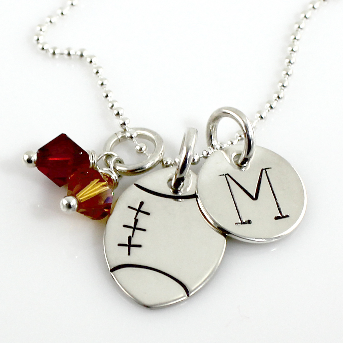 d football amp pendant silver diamond necklace boy s boys sterling chain image for