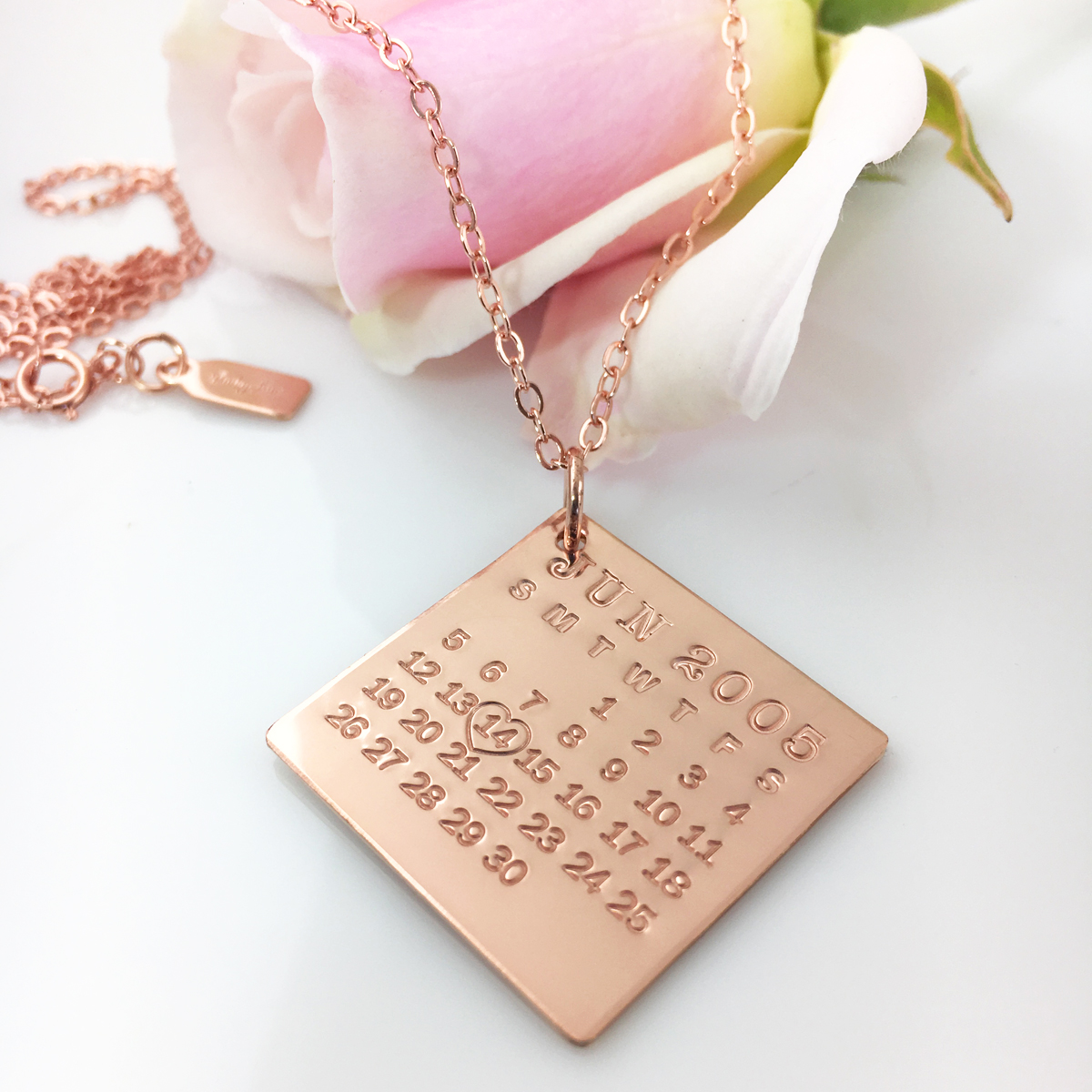 Mark Your Calendar Necklace - Rose Gold Filled