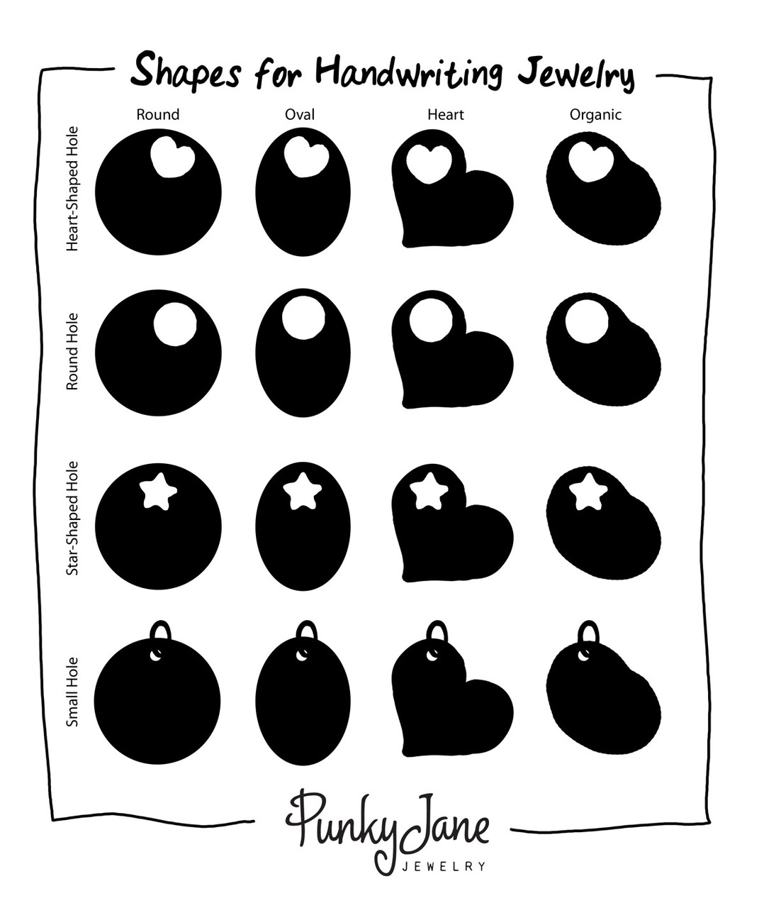 Use this guide to help determine the shape you'd like.
