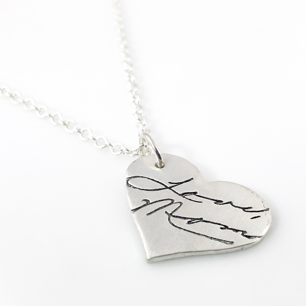 Actual Handwriting Necklace - shown on cable chain