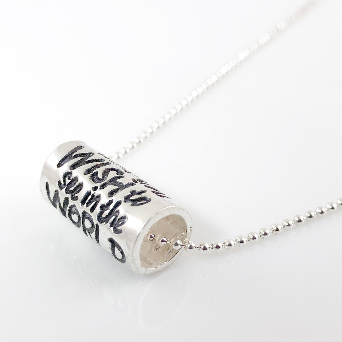 Inspirational Quote Slider Bead - Be The Change