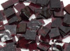 Aubergine Silk Purple English Muffle Hand Cut, Stained Glass Mosaic Tiles