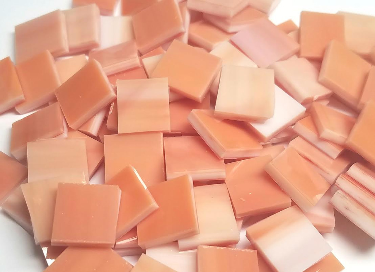 Sunset Orange Stained Glass Mosaic Tiles