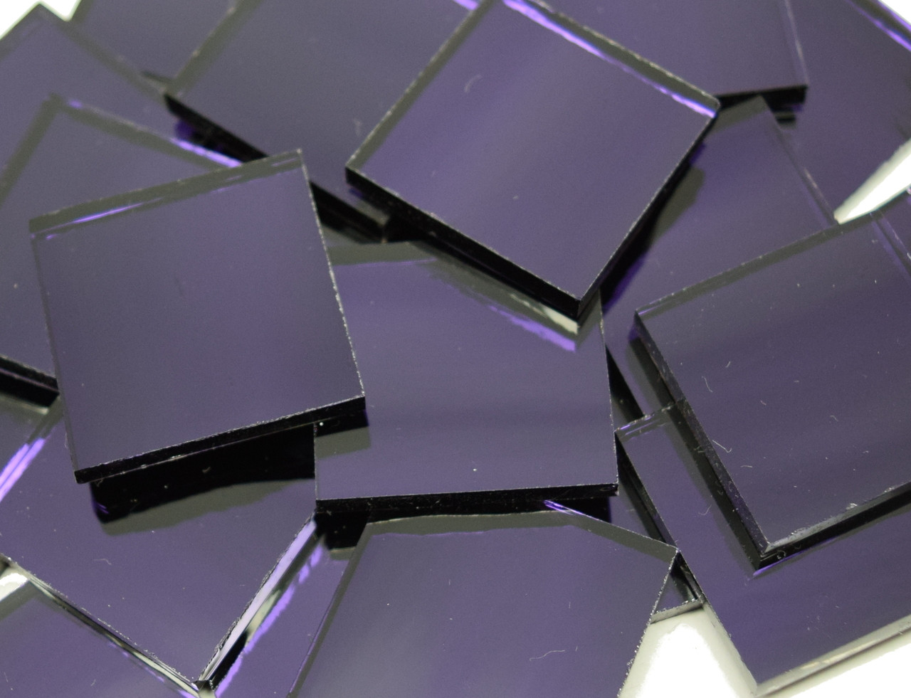 Ultra Violet Purple Waterglass Mirror Stained Glass Mosaic Tiles