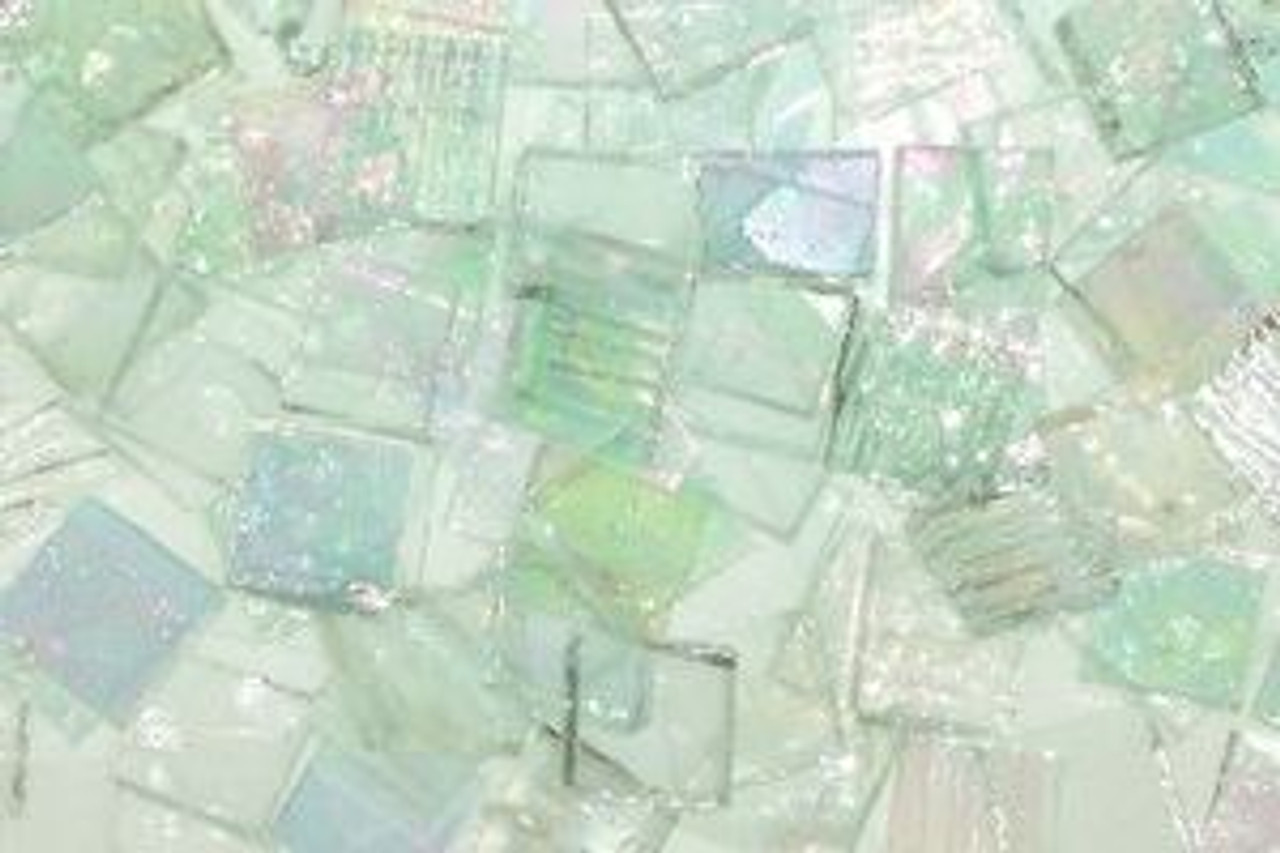 Clear Mix Stained Glass Mosaic Tiles