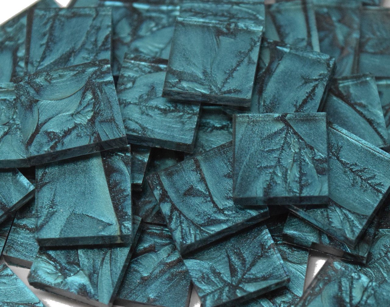 Bluegreen Van Gogh Stained Glass Mosaic Tiles