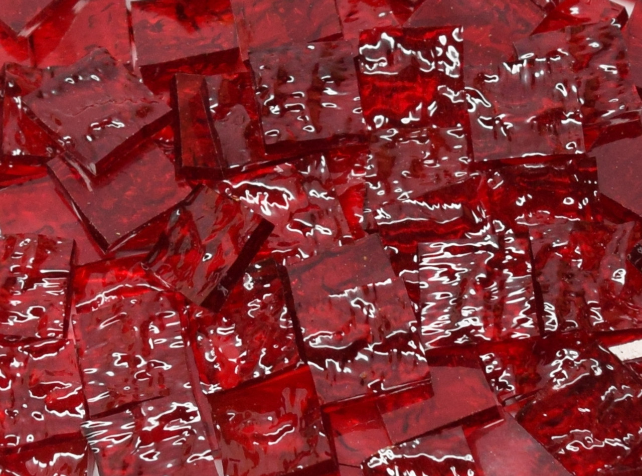 Ruby Red Granite Stained Glass Mosaic Tiles