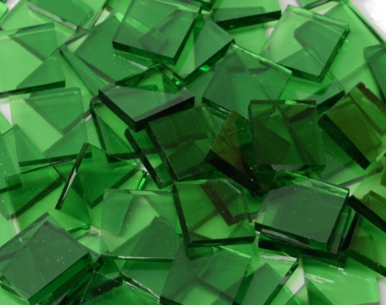 Leafy Green Artique Stained Glass Mosaic Tiles