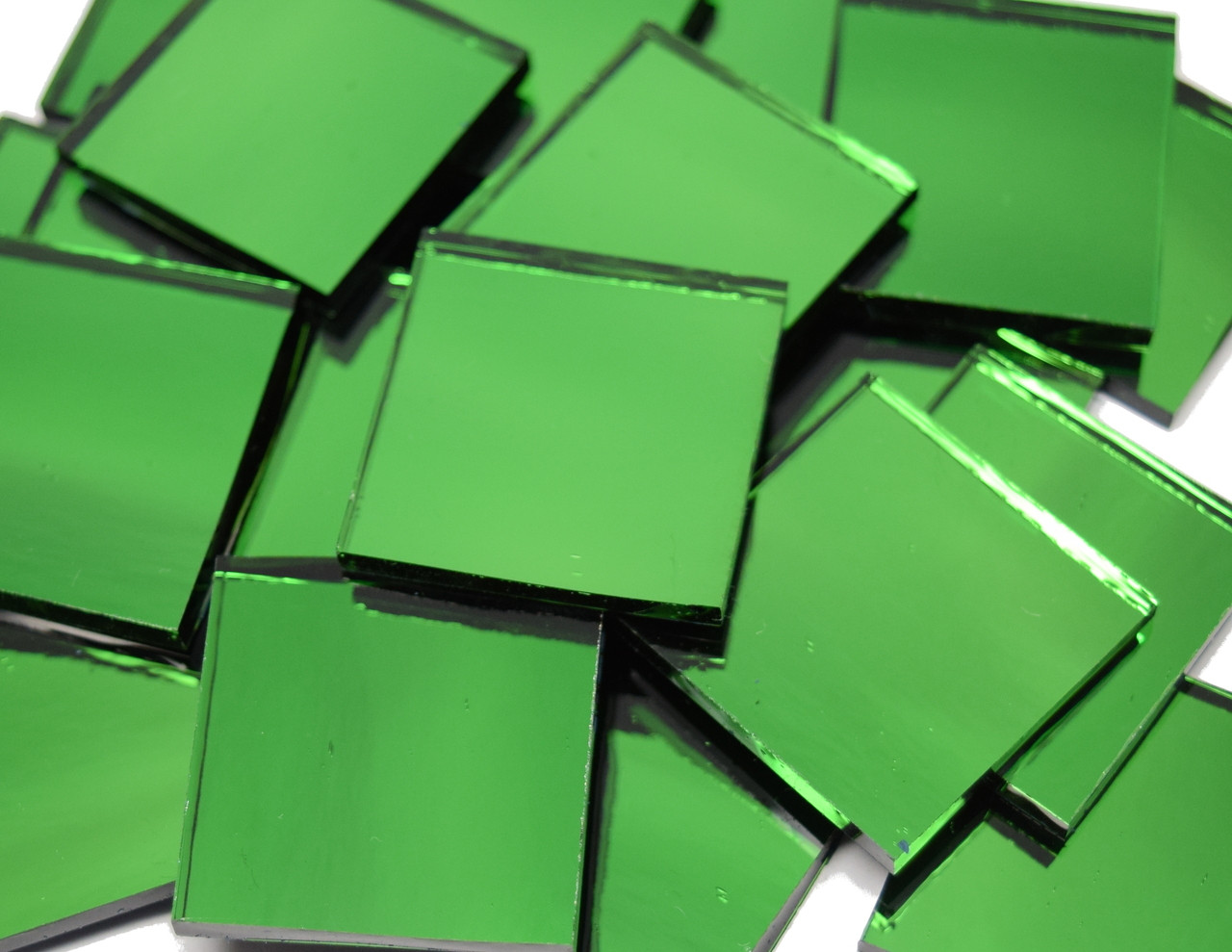 Emerald Ice Green Waterglass Mirror Stained Glass Mosaic Tiles