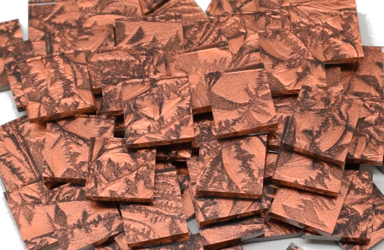 Copper Van Gogh Stained Glass Mosaic Tiles