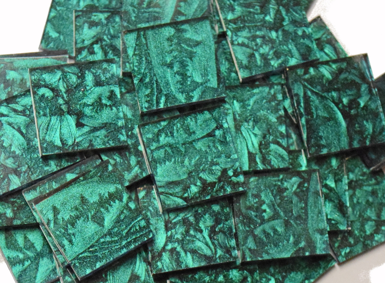 Emerald Green Van Gogh Stained Glass Mosaic Tiles
