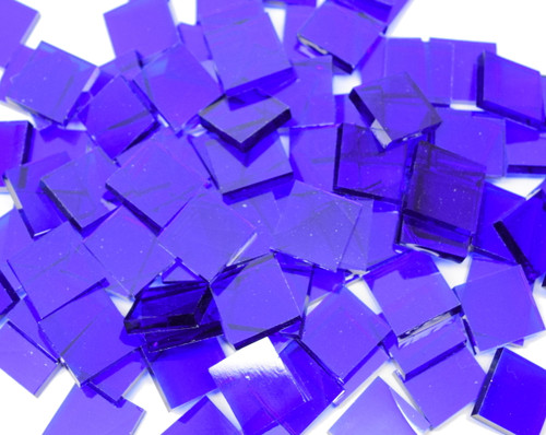 Bulk Discount - Blazing Blue Artique Stained Glass Mosaic Tiles