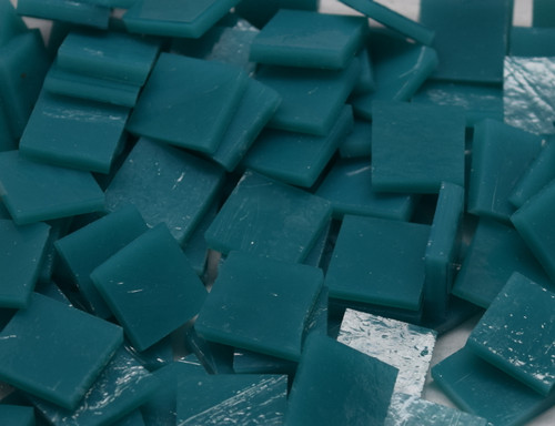 Dark Turquoise Opal Stained Glass Mosaic Tiles