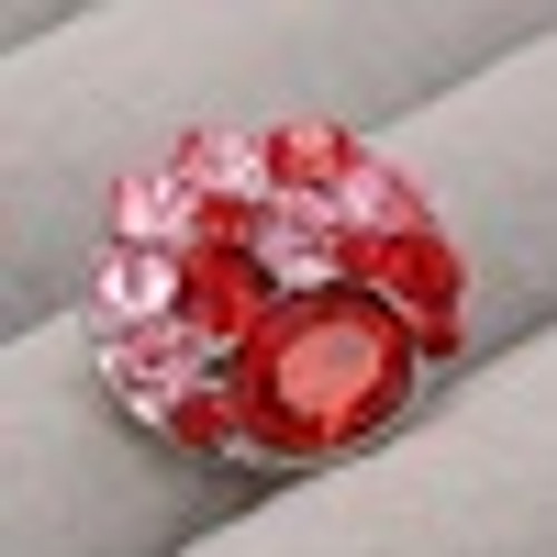 1 Pink Rhinestone Snap Button Embellishment