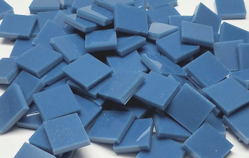 Slate Blue Opal Stained Glass Mosaic Tiles