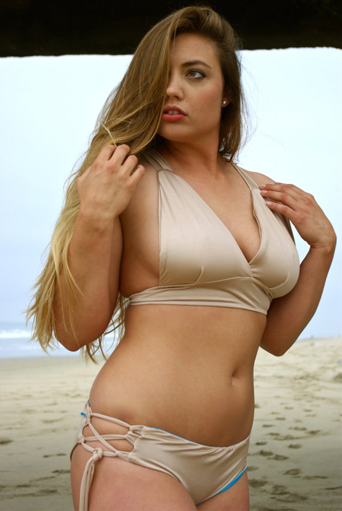 Chun's Reversible Halter Bikini Criss Cross Surf Top Customize Size & Choose from 50+ Fabrics