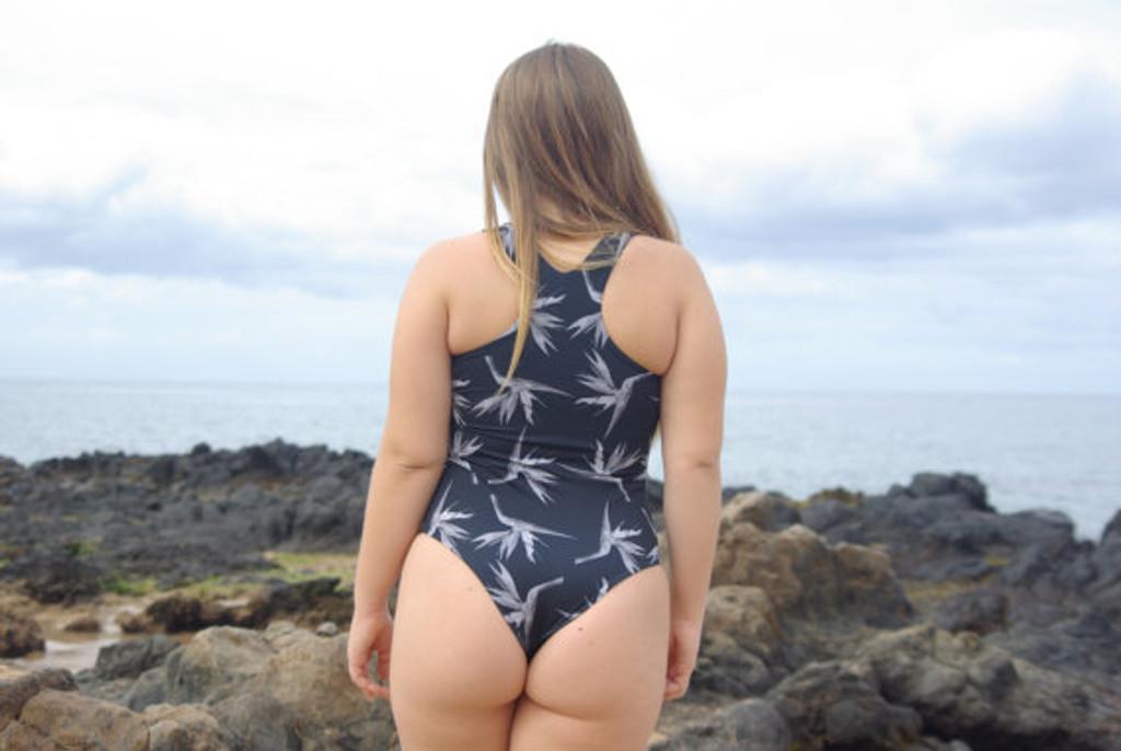 HONOMU Reversible Racer Back T One Piece Swimsuit Customize Size & Choose from 50+ Fabrics