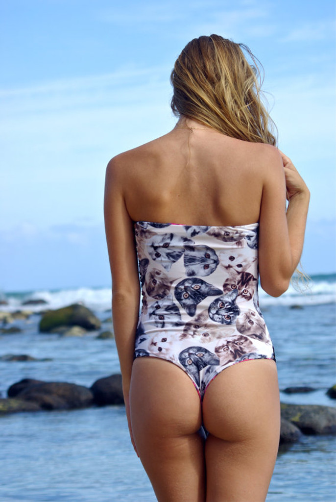 Kiowea Reversible Strapless Side Strap Peek-A-Boo 1 piece bathing suit Customize Size & Choose from 50+ Fabrics