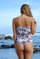 Kiowea Reversible Strapless Side Strap Peek-A-Boo One piece bathing suit Customize Size & Choose from 50+ Fabrics