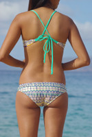 Kahekili Cross Back Halter Reversible Bikini Tops Style Customize Size & Choose from 50+ Fabrics