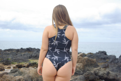 HONOMU Reversible Racer Back T One Piece Swimsuit Customize Size & Choose from 50+ Fabrics