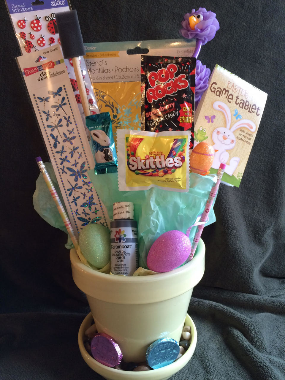 Just for them gift baskets gift basket delivery to seattle easter garden paint pot negle Choice Image