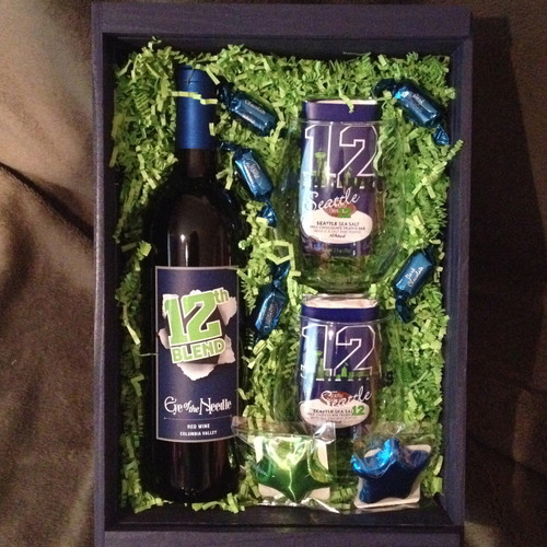 Seattle Seahawks Wine Crate