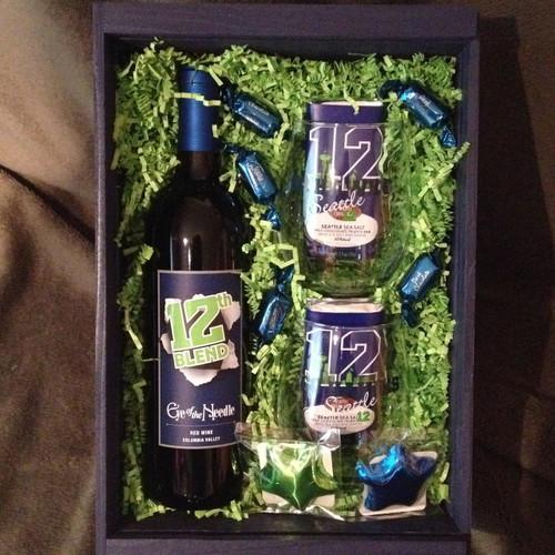 Seattle Seahawks Wine Crate