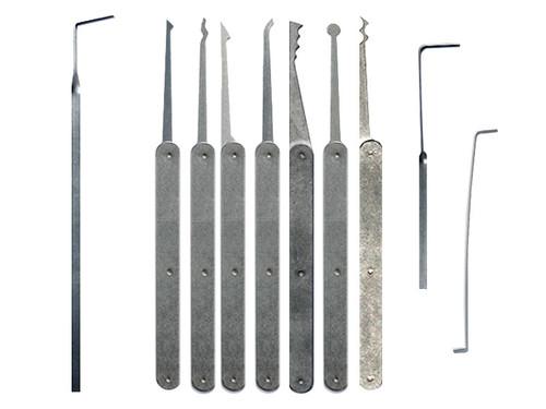 8 Piece Laminated Plain Handle Lock Pick Set
