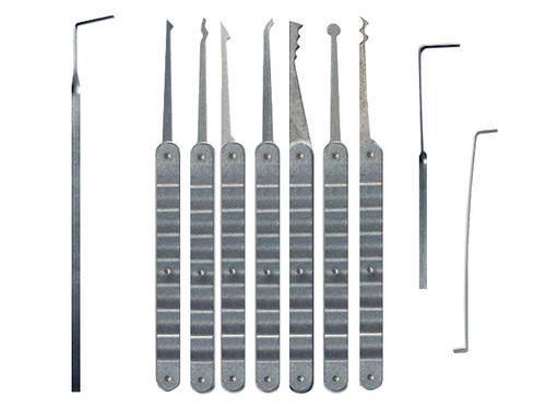 10 Piece Laminated Ripple Handle Lock Pick Set (LRH-10)