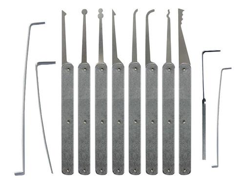 12 Piece Laminated Plain Handle Lock Pick Set (LPH-12)