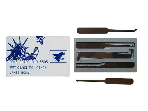 Credit Card Pick Set (JBCC-5)  (Statue of Liberty and Bald Eagle logo)