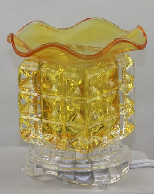Glass Electric Oil Burner - Amber