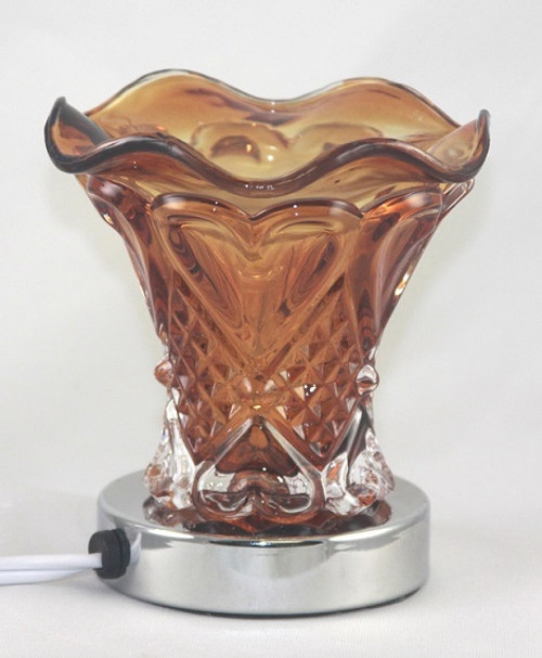 Electric Touch Oil Glass Burner Glass - Brown