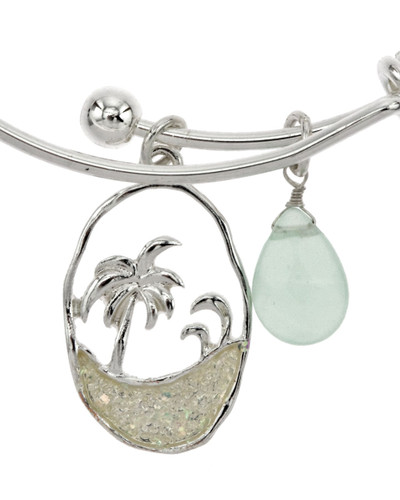 SEA SHORE CHARM HOOK BANGLE BRACELET