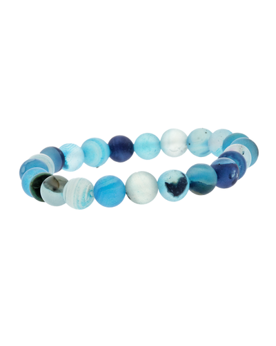 8MM BLUE STONE STRETCH BRACELET