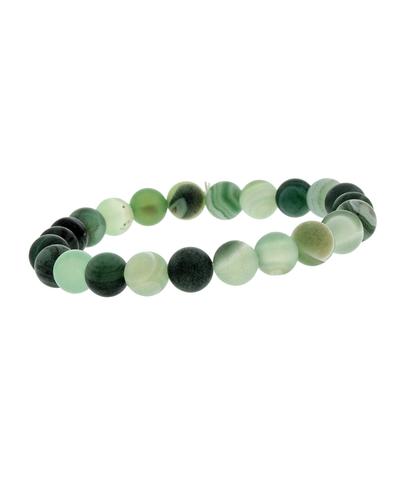 8MM GREEN STONE STRETCH BRACELET