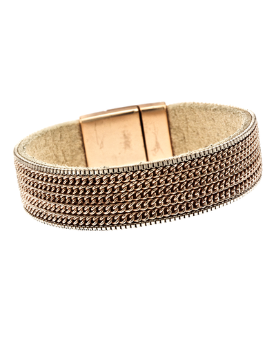 CHAIN- THIN MAGNETIC BRACELET - ROSE GOLD
