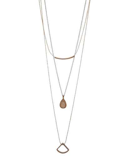 3 LAYER- GEOMETRIC- DAINTY CHAIN NECKLACE