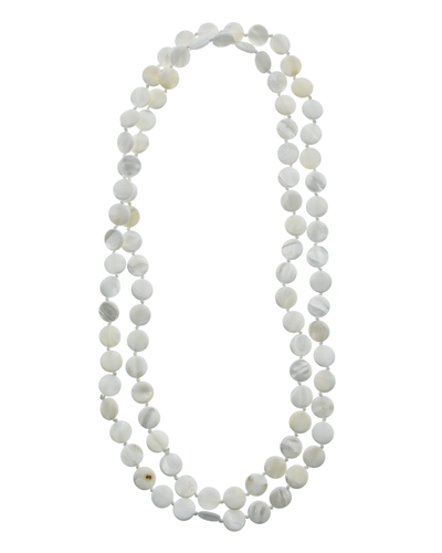 "46"" MOTHER OF PEARL ROUND NECKLACE"