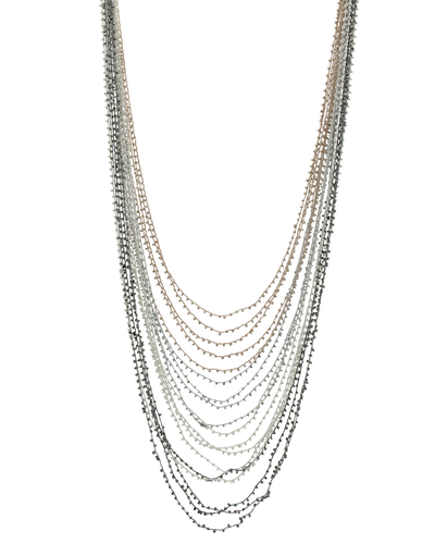 MULTI LAYER THREADED SEED BEAD NECKLACE