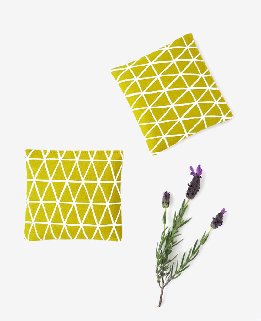 Gold Triangles Lavender Sachet