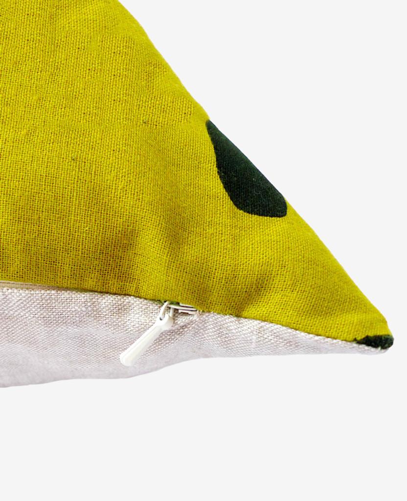Gold Brushstroke Pillow