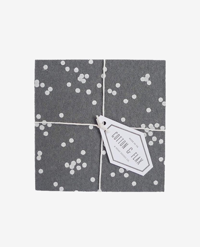 Charcoal Confetti Coasters