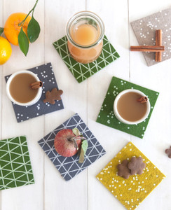 Forest Triangle Coasters