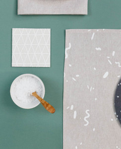Cosmic White Triangle Coasters
