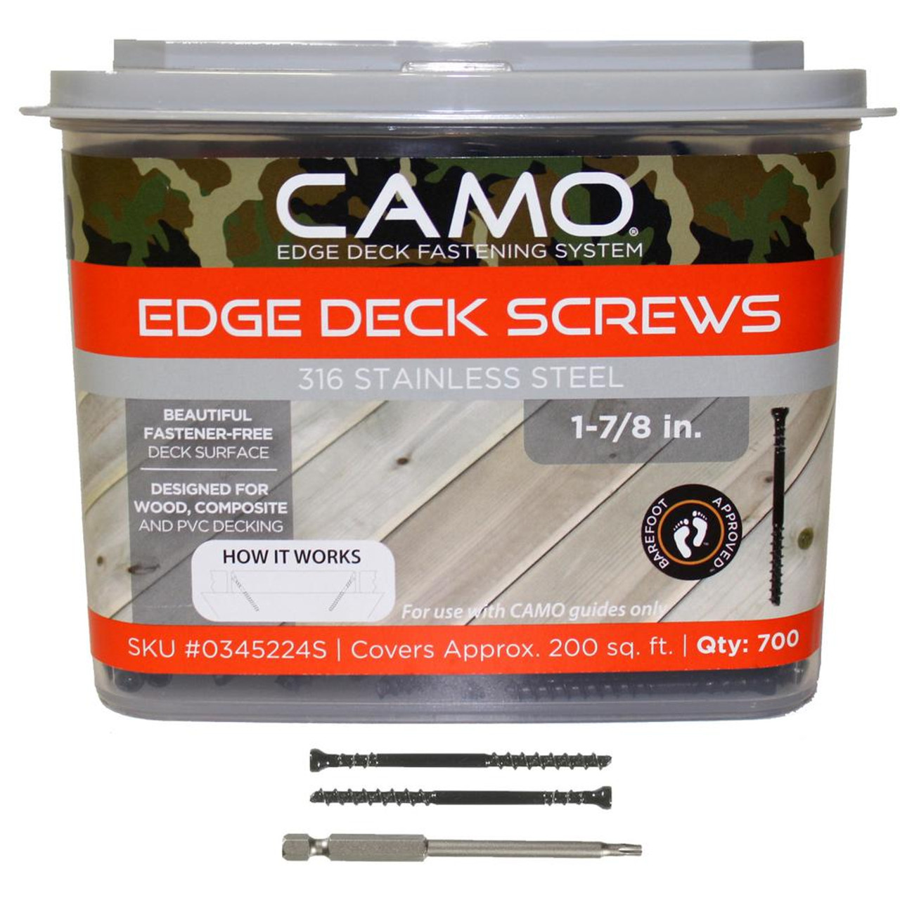1-7/8 in. 316 Stainless Steel Trimhead Deck Screw (700-Count)